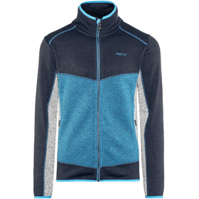 Meru Lerum Knitted Fleece Jacket Men Seaport Melange